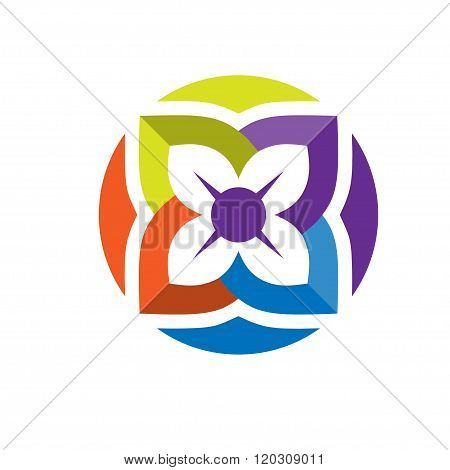 Nature flower icon. Vector nature flower
