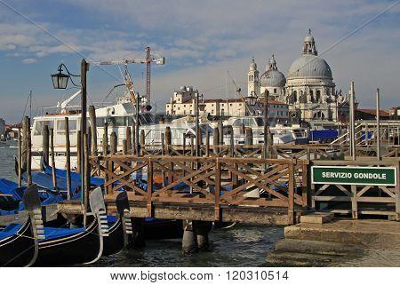 Venice, Italy - September 02, 2012: The Basilica Santa Maria Della Salute In Venice, Italy