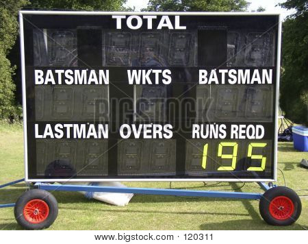 Scorebaord Mini Cricket