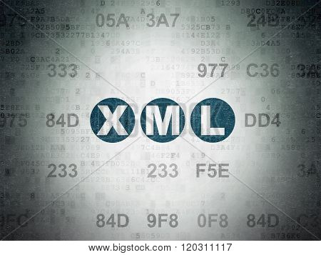 Programming concept: Xml on Digital Paper background
