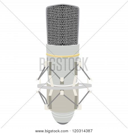 Vintage White Microphone