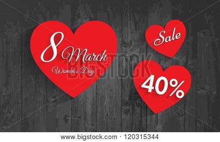Women's Day Celebration Poster, Banner Or Flyer Design Of Sale With 40% Discount Offer