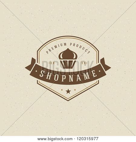 Bakery Shop Logo Template. Vector Design Element Vintage Style for Logotype, Label, Badge, Emblem.