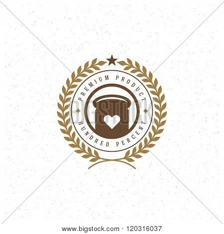 Bakery Shop Logo Template. Vector Design Element Vintage Style for Logotype, Label, Badge, Emblem