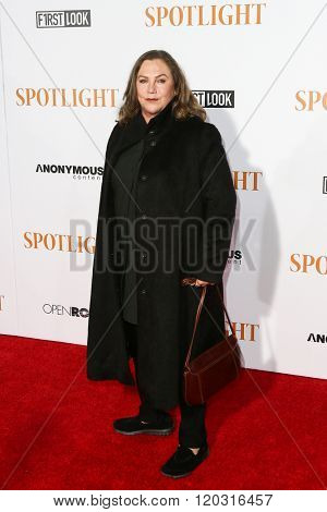 NEW YORK-OCT 27: Actress Kathleen Turner attends the 'Spotlight' New York premiere at Ziegfeld Theatre on October 27, 2015 in New York City.