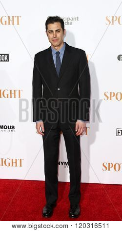 NEW YORK-OCT 27: Writer Josh Singer attends the 'Spotlight' New York premiere at Ziegfeld Theatre on October 27, 2015 in New York City.