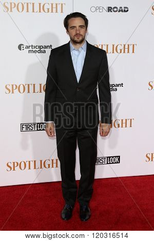 NEW YORK-OCT 27: Actor Vincent Piazza attends the 'Spotlight' New York premiere at Ziegfeld Theatre on October 27, 2015 in New York City.