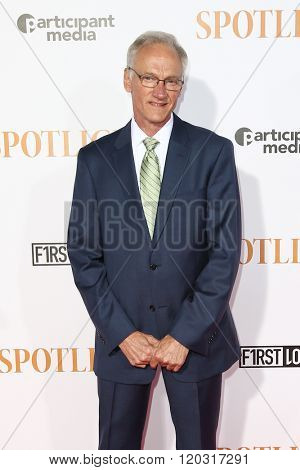 NEW YORK-OCT 27: Phil Saviano attends the 'Spotlight' New York premiere at Ziegfeld Theatre on October 27, 2015 in New York City.