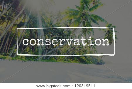 Conservation Maintenance Ecology Protection Conserving Care Concept