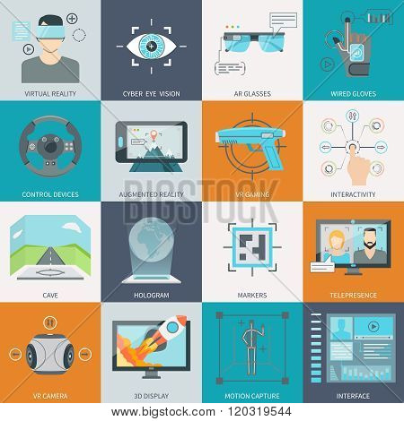 Virtual Augmented Reality Icons
