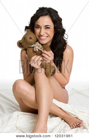 Woman Holding Teddy Bear