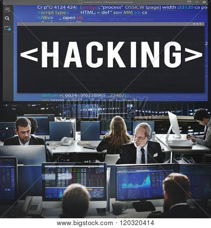 Hacking Software HTML Cyberspace Coding Concept