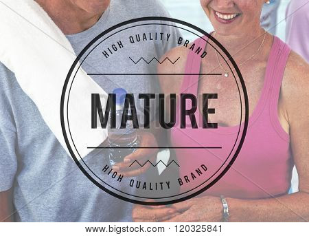 Mature Adult Age Senior Pension Concept