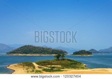 Landscape At Kaeng Krachan Dam