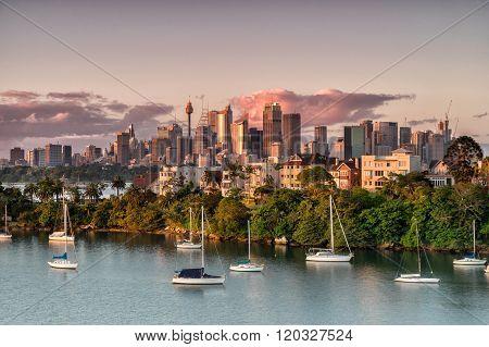 Sydney from Mosman Bay