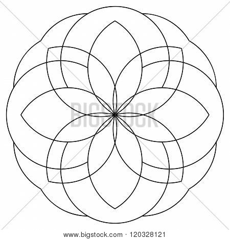 Mandala As Coloring Page