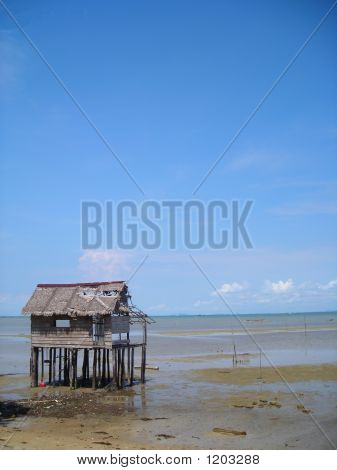 Single Hut By Beach