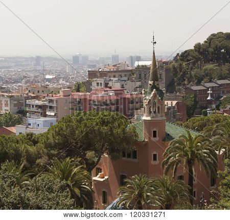 Barcelona. View From Guell Park