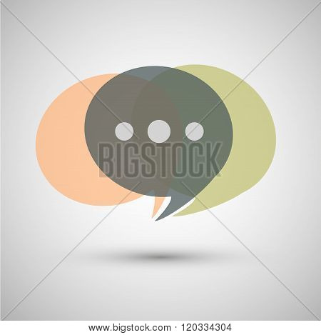 Chat icon vectoron a gray background.