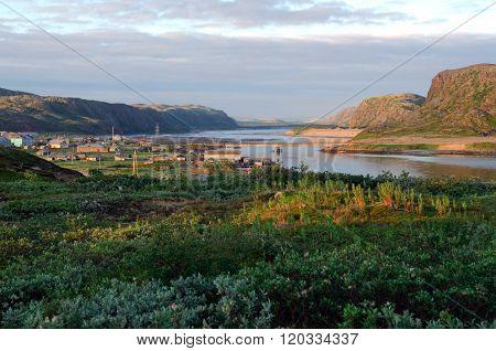 View of the village of Teriberka Murmansk region