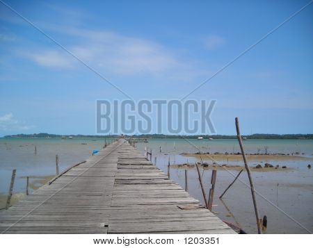 A Stretch Of Wooden Jetty