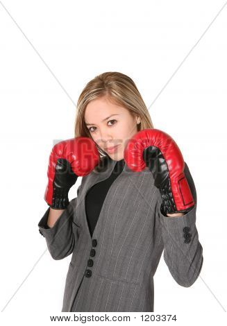 Business Woman Fighter