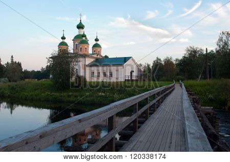 OLONETS, Karelia, Russia - July 24, 2012, View of the Cathedral of Our Lady, Olonets