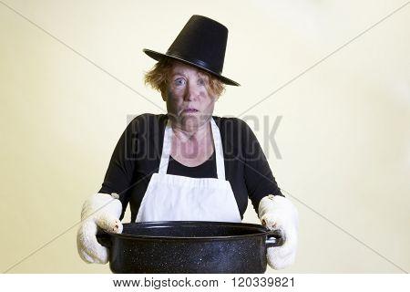 Kitchen Disaster, Pilgrim Hat And Roasting Pan
