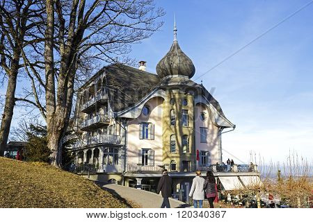Bern, The Building Towering Over Gurten Park