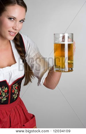Woman Holding Beer