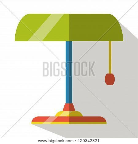bankers lamp flat icon