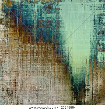 Antique grunge background with space for text or image. With different color patterns: yellow (beige); brown; blue; gray; cyan