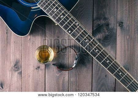 Guitar, Watch And Whiskey