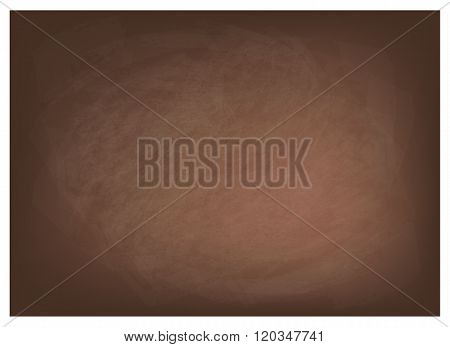 Horizontal Texture of Dark Brown Chalkboard Background