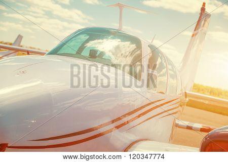 Cabin of a small sports plane