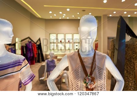 BANGKOK, THAILAND - JUNE 21, 2015: inside of shopping center in Bangkok. Shopping centers such as Siam Paragon, Central World Plaza, Emperium and Gaysorn become shopping Mecca for shopaholics