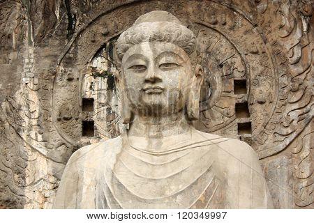 Buddha's statue in Longmen Grottoes, China