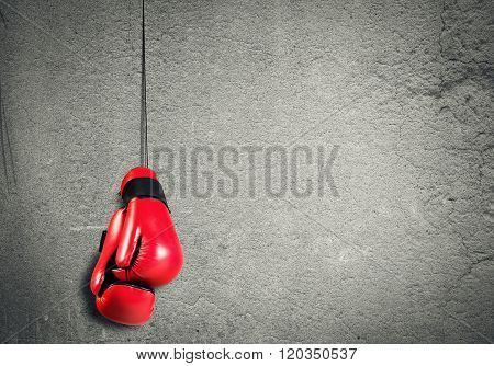 Boxing sport concept