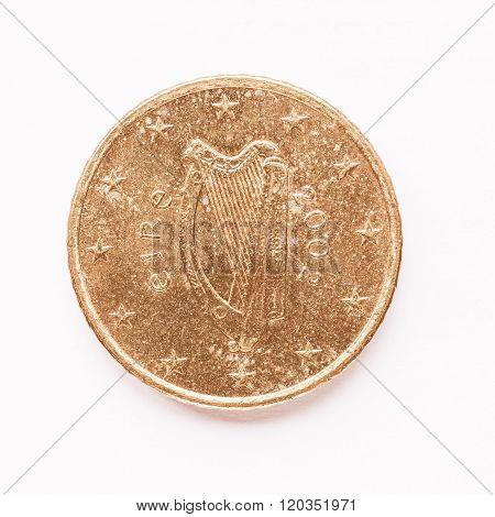 Irish 50 Cent Coin Vintage