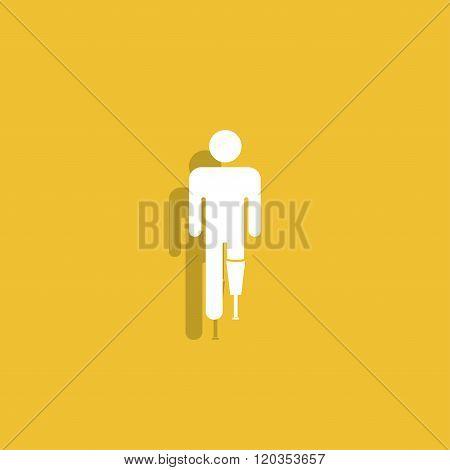 Prosthesis Icon. Flat Design Style.