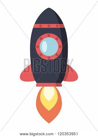Flying Space Rocket