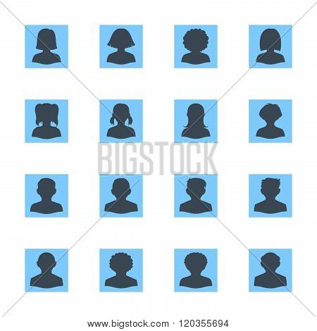 Blank People Avatars - Square Version