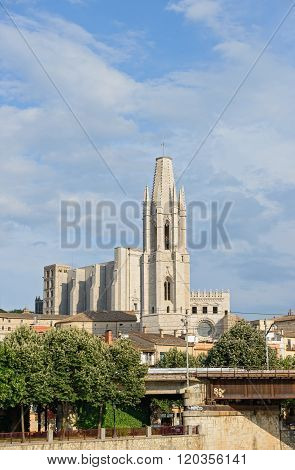 Collegiate Church Of Saint Felix In Girona, Catalonia, Spain.