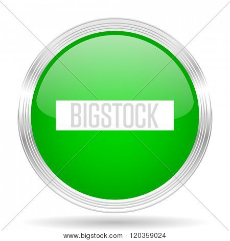 minus green modern design web glossy icon