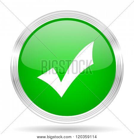 accept green modern design web glossy icon