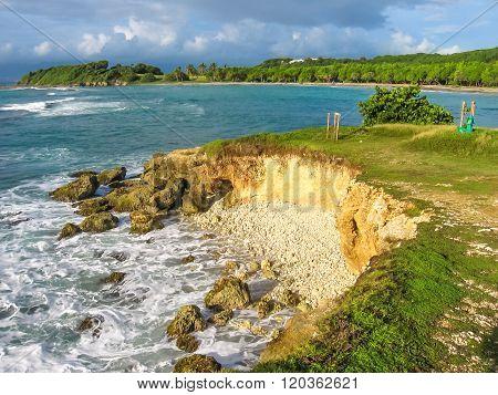 Guadeloupe sea cliffs