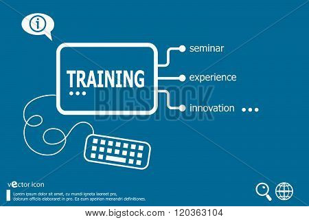 Training Word Cloud Concept With Great Terms Such As Classroom, Education, Trade