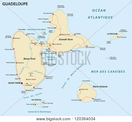 Guadeloupe Road Map