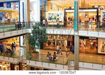 BANGKOK, THAILAND - JUNE 20, 2015: interior of shopping center. Shopping centers such as Siam Paragon, Central World Plaza, Emperium, Gaysorn and Central Chidlom become shopping Mecca for shopaholics