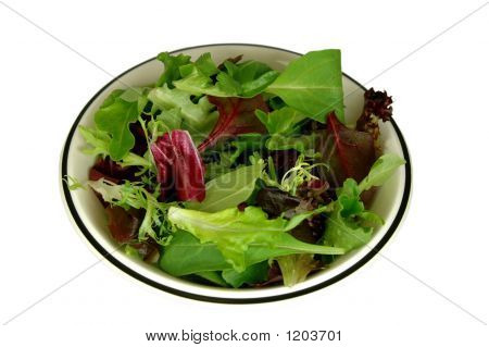 Bowl Of Baby Greens